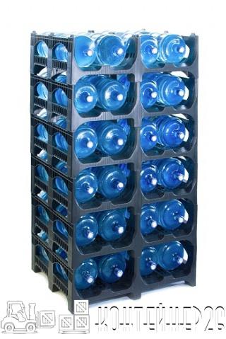 Складское хранение 19-литровых бутылей