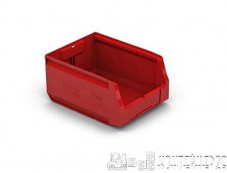 Складской лоток 300x225x150 красный