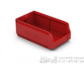 Складской лоток 400x225x150 красный