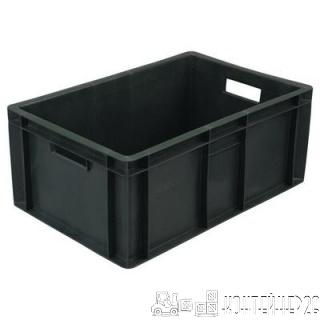 Ящик мясной под полуфабрикаты сплошной, черный