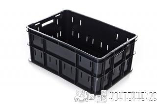 Ящик мясо-колбасный перфорированный черный