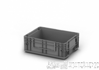 Пластиковый ящик 400x300x150