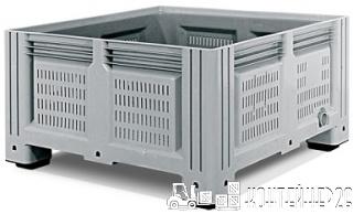 Перфорированный пластиковый контейнер iBox 1130x1130x580