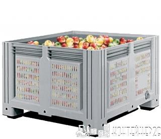 Перфорированный контейнер для яблок 1130x1130x760