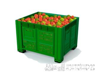 Яблочный пластиковый контейнер 1200х1000
