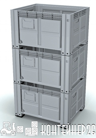 Штабелирование пластиковых контейнеров iBox 1200х1000
